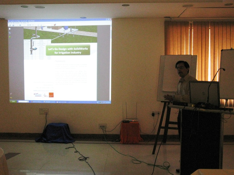 Doing a presentation at SolidWorks TechMeet 2010